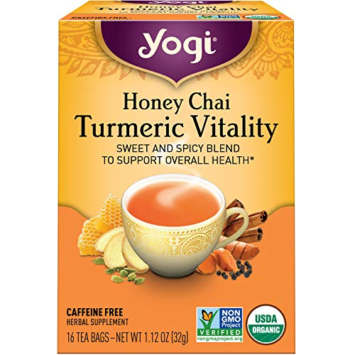 Yogi Tea - Honey Chai Turmeric Vitality (4 Pack) - Sweet and Spicy Blend - 64 Tea Bags
