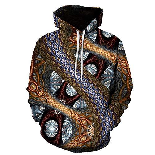 Mr. Cotton Robot 3D impresión Digital suéter Fresco Caballos Viento con Capucha Sudadera suéter chaqueta-WNT-138,XXXL