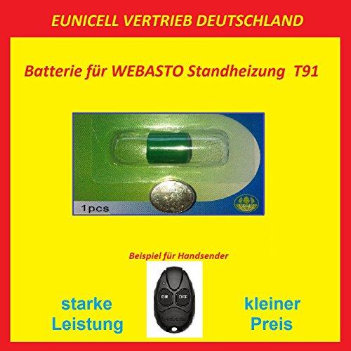 Eunicell WEBASTO Batterie für Handsender Fernbedienung T91 Standheizung 3V EINWEG