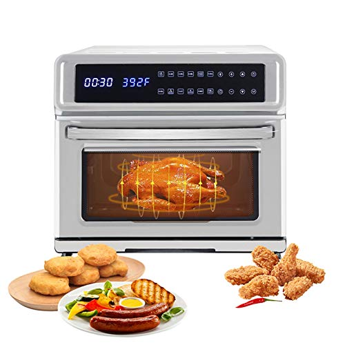Little Boy 11-in-1 Air Fryer, 21 Quart Air Fryer Oven, Roaster, Broiler, Rotisserie, Dehydrator, Oven, Toaster, Pizza Oven, Slow Cooker Hot Airfryer Convection Oven with Digital Touch Screen