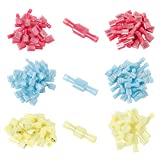 Onite 100pcs Wire Connectors, (Red 22-16AWG, Blue 16-14AWG,...