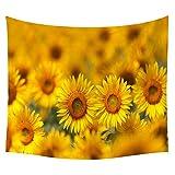 jtxqe Neue Tapisserie Wandbehänge Strandtuch Decke Sonnenblume Neue 7 200 * 150