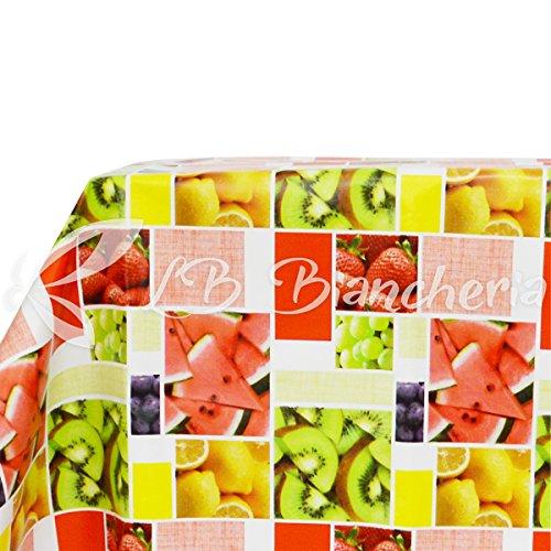 Tafelkleed van PVC-kunststof, vuilafstotend, 120 x 240 cm, fruit