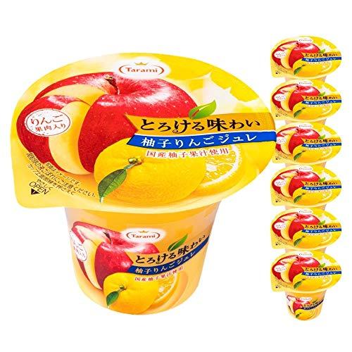 たらみ とろける味わい 柚子りんごジュレ 6箱セット 210g × 各6個(計36個)