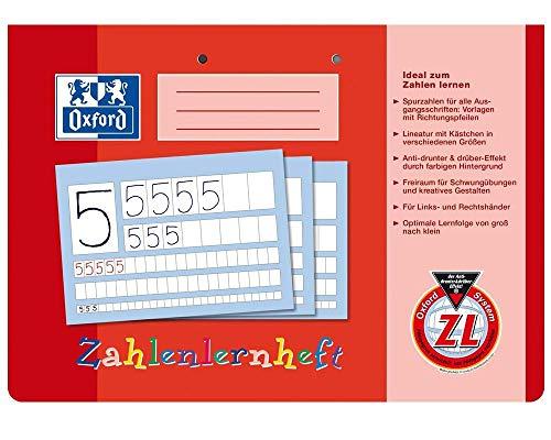 Oxford 100050304 Zahlenlernheft, A4 quer, ZL, 16, robuster, abwischbarer Deckel (3er Pack)