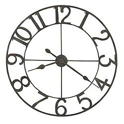 Howard Miller Artwell Oversized Gallery Wall Clock 625-658 – Modern Iron with Quartz Movement