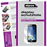 dipos I 2X Schutzfolie klar kompatibel mit Kazam Th&er 5.0 Folie Bildschirmschutzfolie