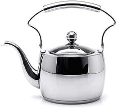 GenericBrands Lustro czajnikowe 1,5 litra importowany dzbanek do herbaty ze stali nierdzewnej 304 dno kompozytowe kuchenk...