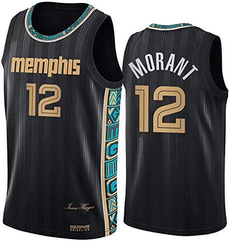 HZHEN Camisetas De Baloncesto De La NBA, Camiseta De Los Grizzlies De Ja Morant # 12, Uniforme De Fan Unisex All-Star De Tela Fresca Y Transpirable,6,M (170~175CM / 65~75KG)