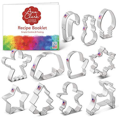 Ann Clark Cookie Cutters 11-Piece Christmas Cookie Cutter