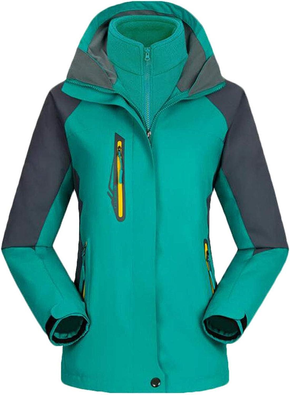 XiaoTianXinWomen XTX Women's Windproof 3 in 1 Hooded Mountain Thicken Waterproof Jacket Coat