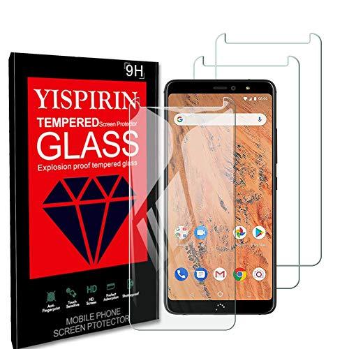 YISPIRIN [3 Piezas] Cristal Templado para BQ AQUARIS X2/X2 Pro, Dureza 9H, Anti - arañazos Anti-Rasguño,Fácil de instalar, Vidrio Templado Protector de Pantalla para BQ AQUARIS X2/X2 Pro