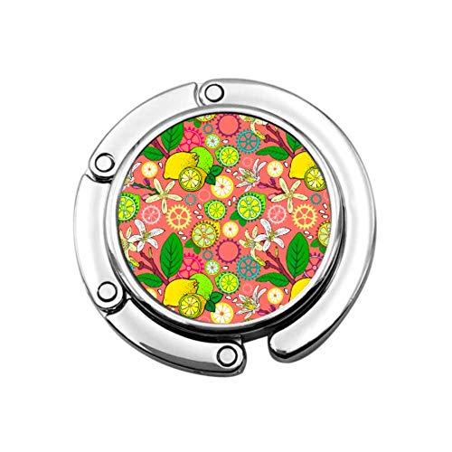 Geldbörse Haken Zitrone Blumen Zahnräder Klapphandtasche Tisch Kleiderbügel Tasche Kleiderbügel Sammlung Schreibtischhaken