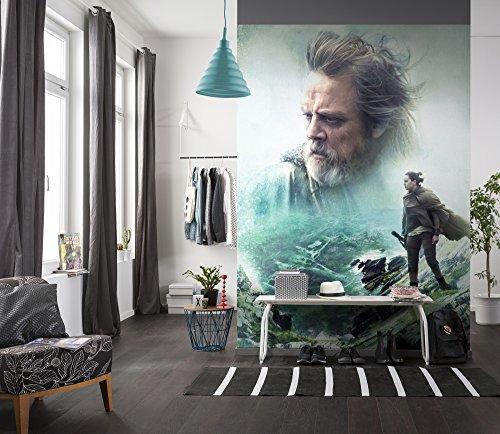 Komar 4-438 Fototapete Star Wars – The last Jedi, Größe 184 x 254 cm (Breite x Höhe), 4 Teile, inklusive Kleister, Made in Germany, Bunt