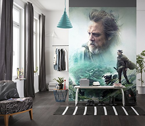Komar - Star Wars - fotobehang THE LAST JEDI - 184 x 254 cm - behang, muurdecoratie, Luke Skywalker, Rey, EPS8-4-438