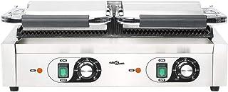 Grill Électrique de Table Presse à Panini Appareil Croque Monsieur 3600W Toaster Sandwich Plancha Viande | 58 x 41 x 19 cm