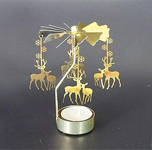 YZCKW Candeliere A Rotazione Rotazione Rotante Filatura Carosello Luce Del Tè Illuminazione Dell'Albero Di Natale Migliore Regalo D Candeliere