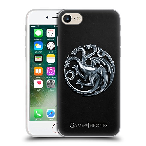Head Case Designs Officially Licensed by HBO Game of Thrones Silver Targaryen Sigils Soft Gel Case Compatible with Apple iPhone 7 / iPhone 8 / iPhone SE 2020