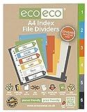 1lot X 6pk Eco-eco A450% recyclé de classement dossier Intercalaires en plastique