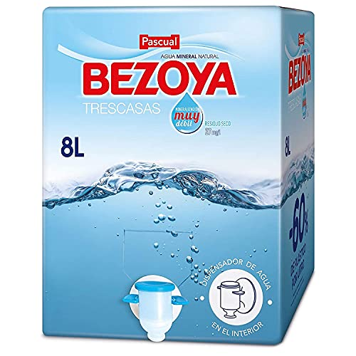Bezoya – Agua Mineral Natural – 1 Caja x 8 L con Grifo Dispensador