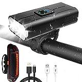 Varadyle Luces de Bicicleta Delanteras y Traseras, Luces Delanteras y Traseras Recargables por USB, Luces Traseras y Delanteras para Bicicletas Accesorios para Bicicletas