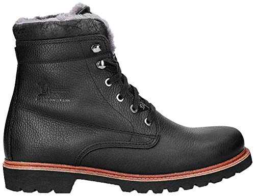 Panama Jack Herren Winterstiefel Panama 03 Aviator Igloo,Männer Winter-Boots,Fellboots,Lammfellstiefel,Fellstiefel,gefüttert,warm,Schwarz,EU 43
