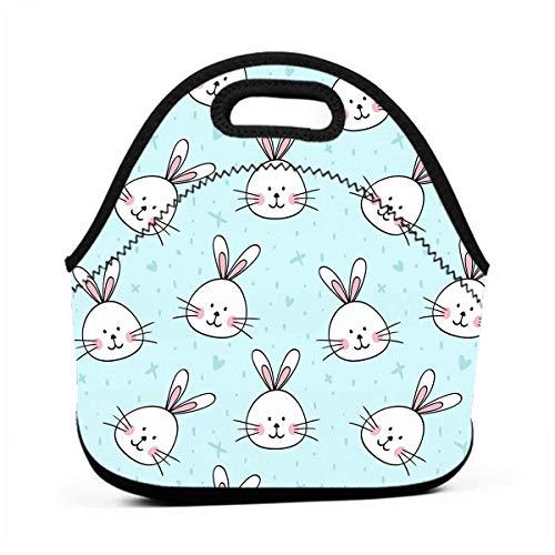 Bolsa de almuerzo para guardar el almuerzo, diseño de conejo