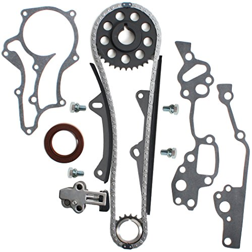 NEW TK10120 (96 Links - Single Row) HD Heavy Duty Timing Chain Kit (2 HD Metal Steel Guide Rails & Bolts) COMPATIBLE WITH 85-95 Toyota 2.4L 4Runner Pickup Celica 4-Cylinder 22RE 22REC 22RTEC