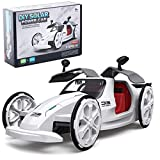 Masefu DIY Solar and Battery Powered Car Toy, STEM Eco-Engineering Science Assembly Vehicle with Openable Car Doors,...