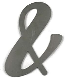 Ampersand Symbol And Sign Raw Steel Unpainted Word Art