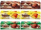 Pack 6 unidades surtido Galletas rellenas Chocolate Avellana Limón 150gr (6x150gr=900gr total)