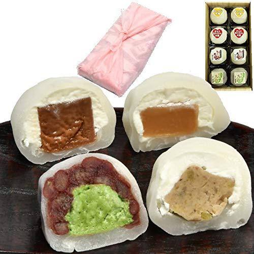 お中元 和菓子 ギフト 詰め合わせ 人気 お取り寄せ スイーツ セット 栗きんとん 抹茶 キャラメル チョコ 大福 8個入 風呂敷包み