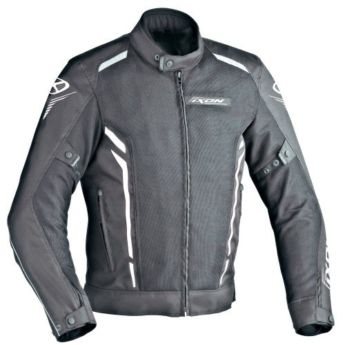 Ixon Cooler Giacca da moto, nero/bianco, taglia XS
