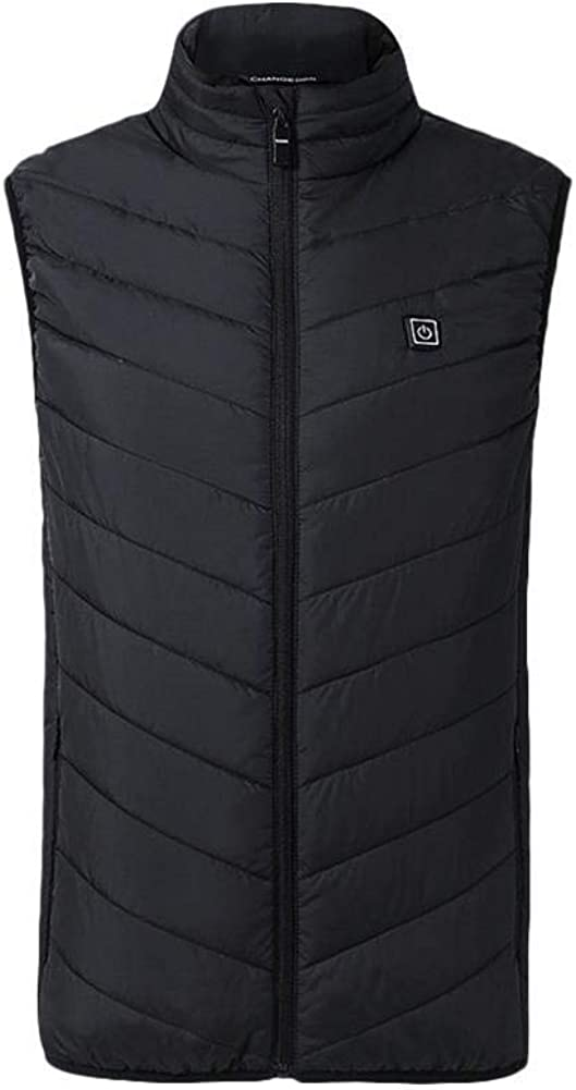 Pitstop Electronics Men's Outdoor Workwear USB Heated Vest with USB Charging Heated Clothing Washable Cotton Vest