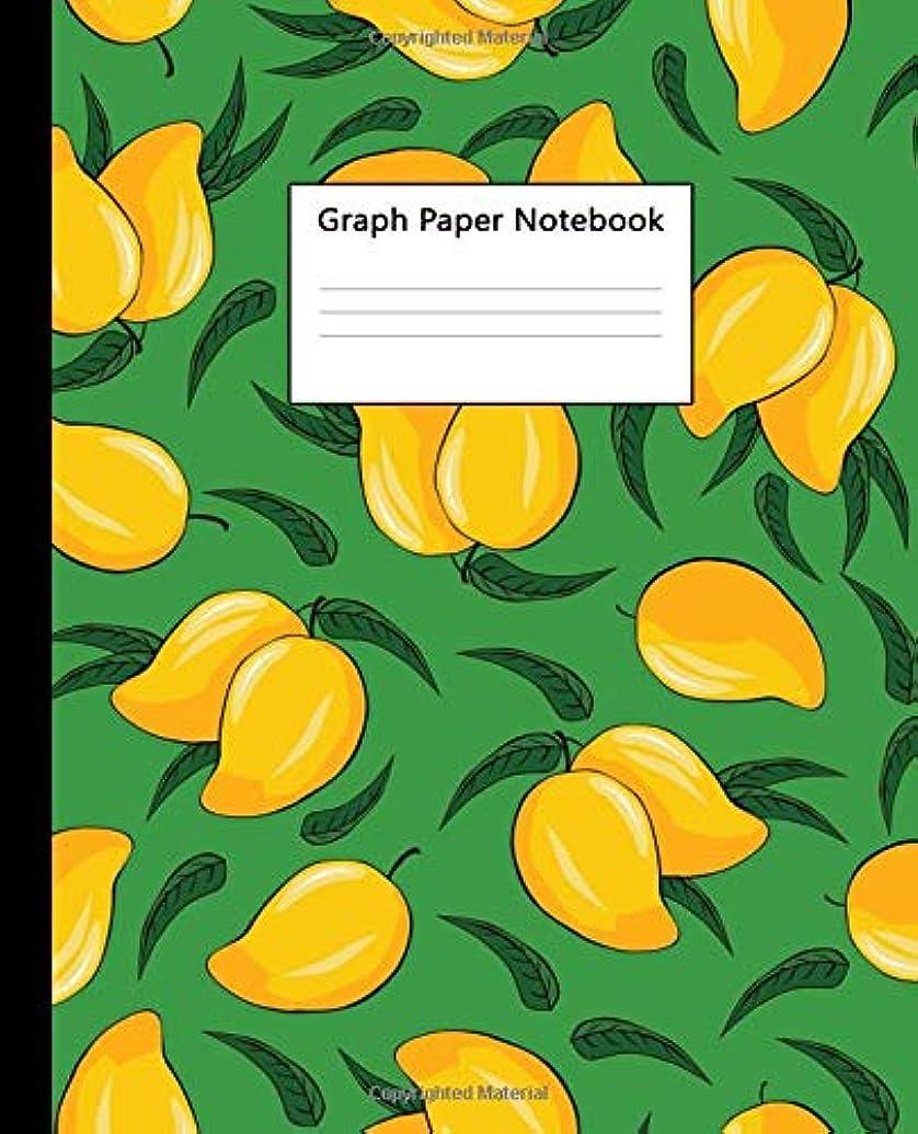 中絶好み閉じ込めるGraph Paper Notebook: Quad Ruled 5 x 5 (.20'') Graphing Paper Composition Book for Math & Science Students and Teachers, 5 Squares per Inch, Large - Cute Fresh Vibrant Mango Print