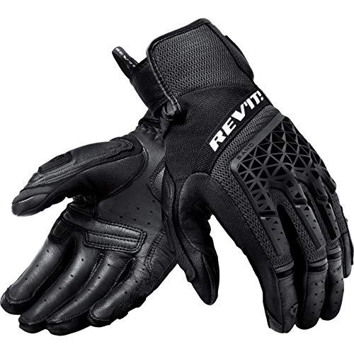 REV'IT! Motorradhandschuhe kurz Motorrad Handschuh Sand 4 Handschuh schwarz XL, Herren, Tourer, Ganzjährig, Leder/Textil