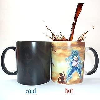 HOT SALE Dragon Ball Z Super Saiya Gold VEGETA Color Changing Coffee Mug Heat-sensitive Reactive ceramic cup