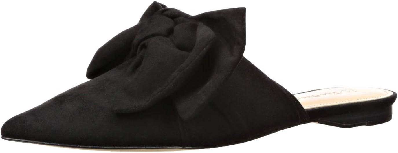 The Drop Essen Zapatos Mule destalonados puntiagudos con lazo