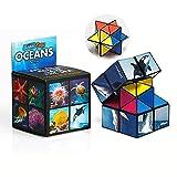 SHONCO Cubo Mágico 2 en 1, Speed Cube, Superficie Lisa, sólido y Duradero, Viaje de Fiesta, Cubo mágico de descompresión Creativa, Rompecabezas de Juguete para niños y Adultos