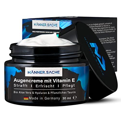MS® BIO-Aloe-Vera Augencreme für Männer 30ml (vegan) - Gegen Augenringe & dicke Tränensäcke - Vitamin E, Bio Aloe Vera, Hyaluronsäure, pflanzl. Taurin, Glycerin, Panthenol - Geschenke für Männer