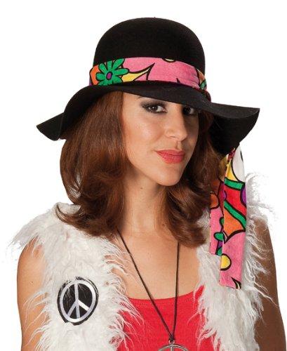 RUBIES ALL Chapeau Hippie Noir Femme