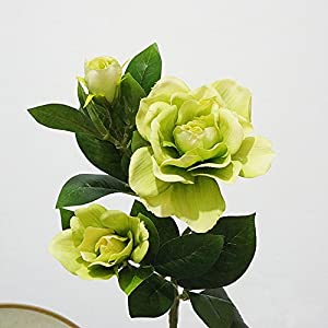 Finance Plan Fashion Artificial Gardenia Flower Wedding Party Bouquet Home Decor Gift Wrapping 1Pc 3 Heads