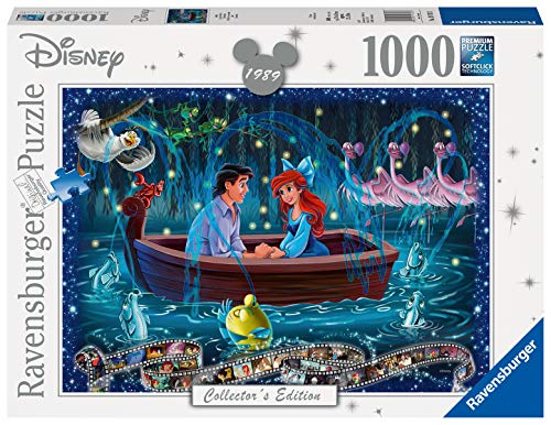 Ravensburger Puzzles 1000 Piezas, La Sirenita, Puzzle Disney, Rompecabezas Ravensburger de Alta Calidad, Princesas Disney, Edad Recomendada 12+