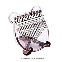 Benkeg17キーカリンバ親指ピアノ透明アクリル素材キャリーバッグ音符ステッカーチューニングハンマークリーニングクロスミュージカルギフト