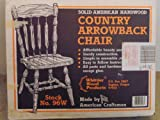 Solid American Hardwood-'Country Arrowback Chair' (Unfinished Kit)