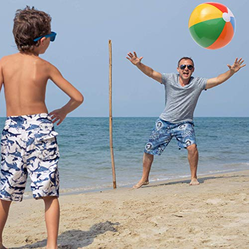 HeroFiber Beach Toys and Favors - 12 Inflatable Beach Balls + 12 Mini Beach Bucket and Shovel Set + 12 Sunglasses + 12 Water Squirters + 12 Bubble Bottles, Great for Birthday, Beach and Pool Party