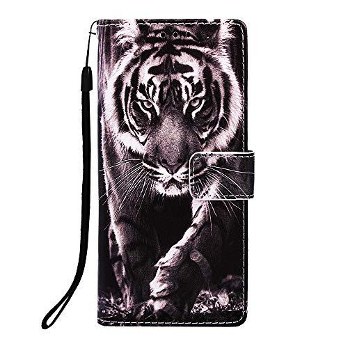 Docrax Handyhülle Lederhülle für Galaxy A10, Flip Case Schutzhülle Hülle mit Standfunktion Kartenfach Magnet Brieftasche für Samsung Galaxy A10 - DOYBO450088 D8