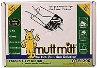 Mutt Mitt Dog Waste/Poop Pick Up Bag, 200-Count by Mutt Mitt