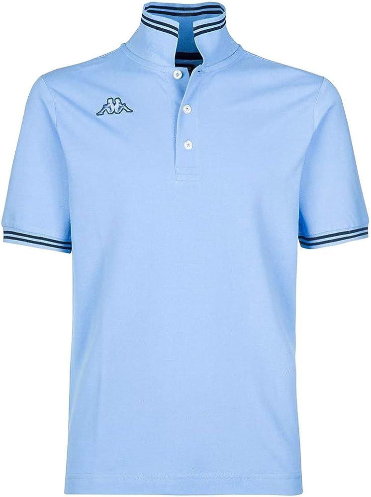 Kappa polo maglietta a maniche corte da uomo in cotone Blue Sky-blue Navy