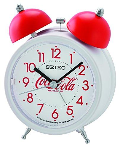 Seiko QHK905W Coca-Cola Bell Alarm Clock-White, 13.5 x 9.5 x 6